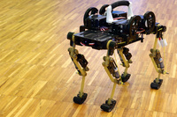 Quadruped robots for dynamic locomotion research