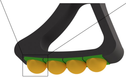 FootTile: a Rugged Foot Sensor for Force and Center of Pressure Sensing in Soft Terrain